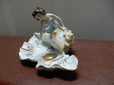 Porcelain Art Nouveau Style Figurine Sea Maiden on Shell Von Schierholz PMP 1970