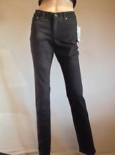 Kenneth Cole New York Designer Black Skinny/Straight Jeans  Sz 8 W26 L33 Ee57