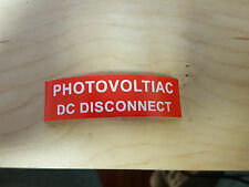 25 PV Solar Labels UV Resistant Photovoltiac DC Disconnect