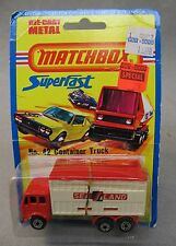 1976 Matchbox #42 SEALAND CONTAINER TRUCK Superfast factory sealed blister card