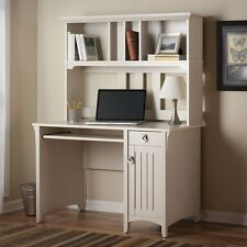 White Computer Desk Modern Office Hutch Contemporary Laptop Home Furniture Table