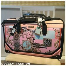River Island NEW Pink Scarf Print Weekend Cabin Bag BNWT 691802 £70 Leopard