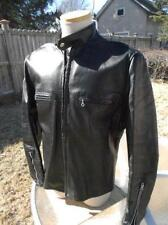 Vtg KEHOE Steerhide Leather CAFE RACER JACKET Motorcycle Biker 44 USA