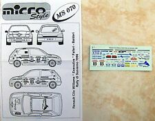 RENAULT CLIO WILLIAMS RALLYE SAN REMO 1996 FALLERI DECALS MERI KITS
