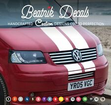 VW Volkswagen Bonnet Stripe Sticker Decal T4,T5,T6 Graphic Van Racing Camper