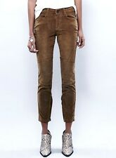 NEW Free People gold brown distressed Velvet Stretch Skinny Jeans 27 $128