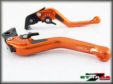 Strada 7 CNC Short Carbon Fiber Levers Yamaha MT-01 2004 - 2009 Orange