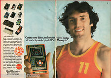 Pubblicità Advertising MATTEL ELECTRONICS 1980 Basketball (Meneghin)