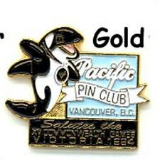 1994 Commonwealth Games Killer Whale Mascot - Pacific Pin Club Lapel Pin Gold z3
