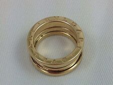 "GORGEOUS ""BVLGARI"" B.ZERO 18K YELLOW GOLD RING SIZE 5 0"