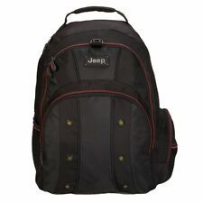 JEEP BACKPACK RUCKSACK CABIN HAND LUGGAGE TRAVEL HIKING LAPTOP SCHOOL BAG BLACK