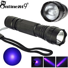 UV Ultra Violet CREE WF501B 365NM Blacklight Flashlight Multi Function Laser b