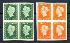 NED INDIE 1948 # 345/46  IMPERF PROOF 4 x -CERTIFICAAT-NO GUM AS ISD MOST VF @1