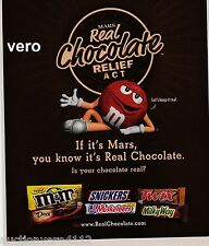 2009 magazine ad M&M's REAL CHOCOLATE RELIEF ACT #3 mms M&M print red