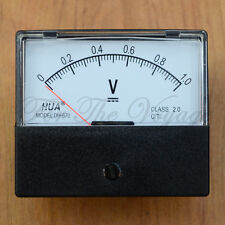 0- 1V DC Voltmeter Analogue Panel Volt Meter Analog NEW