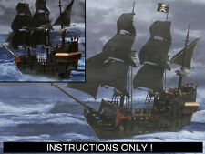 CUSTOM Pirates of the Caribbean  Black Pearl Ship (Lego Instructions Only!)