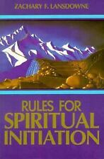 Rules for Spiritual Initiation Lansdowne, Zachary Paperback