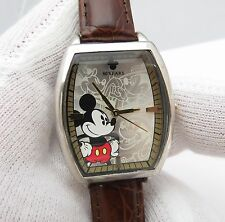 MICKY MOUSE, Disney '80' Years, Barrel Shaped, Disney Band, LADYS/KIDS WATCH 60