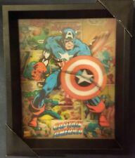 """Marvel Comics Captain America 3d wall art 9"""" x 11"""""""