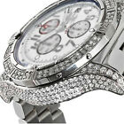 Mens Diamond Breitling Super Avenger White Dial A13370 Watch With Box and Papers