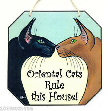 ORIENTAL CAT RULE HOUSE PAINTING SIGN SUZANNE LE GOOD