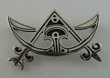 Ola Gorie Silver Pictish Brooch Pin Boxed Crescent & Rod Scottish Christian Box