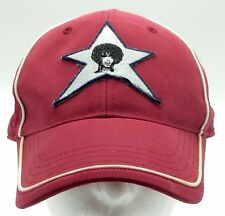 Vintage HYP Hat NYC 90s Hip Hop Gangster Bloods Afro Red 5 Point Star O/S Hype