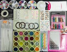 Nail Art Kit #4 Complete set for Birthday Christmas gift Girls Women.Stamping.