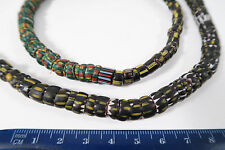 Alte Glasperlen Chevron yellow jacket Old Venetian African trade beads Afrozip