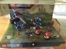 LEGO NEXO KNIGHTS STORE DISPLAY CONTAINING SETS 70312 70314 AND 70315