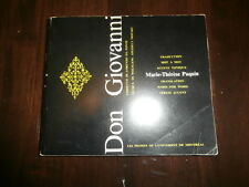 1974 Don Giovanni Libretto for Voice Students Marie-Therese Paquin Montreal U
