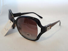 DG Eyewear Sunglasses Gold & Black Zebra Stripe & Silver Stitch Design New Women