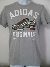 Adidas-gris-formation chaussure logo taille x small, coton mélangé t-shirt