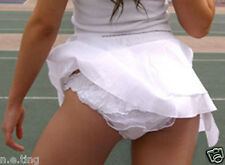 Sweet White Frilly Ruffle Tennis Knickers and Short Skirt Set -  Small UK 10