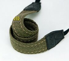Military Men style  Army green to knit  Camera Neck Shoulder Strap for Film SLR