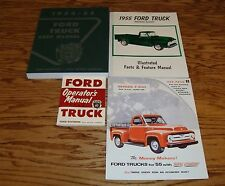 1955 Ford Truck Shop Service Manual Owners Manual Sales Brochure Lot of 4 55
