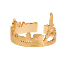 Timi PARIS Skyline (Eiffel Tower) adjustable gold plated ring & gift bag
