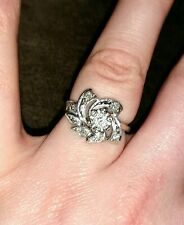 Antique Vintage Fashion Diamond Ring 14K White Gold