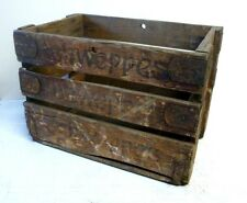 Vintage Large Advertising Schweppes Wooden Crate Storage