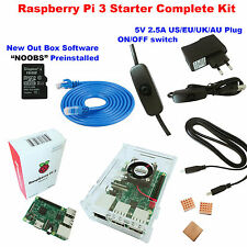 Raspberry Pi 3 Model B 1GB RAM Quad Core 1.2GHz CPU Starter Kit with ABS Case