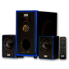 Acoustic Audio AA2102 Home 2.1 MP3 Speaker System 300 Watts Computer Gaming
