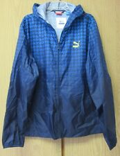 PUMA Mens Super Windbreaker Recyclable Peacoat Full Zip Jacket Size XL NWT$90.00