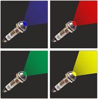 LED Signallampe Signalleuchte Kontrollleuchte von 5V 12V -24V 8,2 mm Metall (022