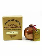 *Pack of 5*Magic of India Natural Solid Perfume OPIUM Fragranc in Wooden Jar,6gm