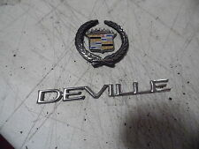 OEM 00 Cadillac Deville Set Of Trunk Decals and Logo Emblems, nameplates badges