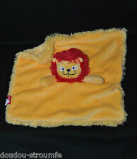 Peluche Doudou Lion Plat EMIRATES ANIMALS Jaune Rouge Dessous Jaune  TTBE