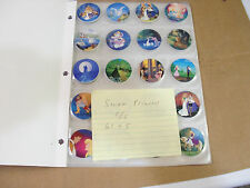 SWAN PRINCESS POGS COMPLETE SET OF ALL 66 IN PAGES AND FOLDER FREE SHIPPING
