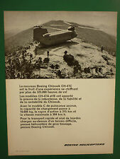 10/1968 PUB BOEING HELICOPTER CHINOOK CH-47C US ARMY VIETNAM HELICOPTERE AD
