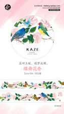 Japanese Masking/ Washi Paper Tape [KAZE] Flower and Butterfly Scrapbook DIY