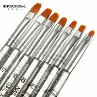 7X Nail Art Brush UV Gel Crystal Acrylic Painting Polish Pen Tips Builder Tool